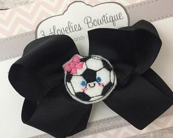Soccer Hair Clip, Soccer Clip, Hair Clip, Clippie, Girls Hair Clip. Toddler Hair Clip, Soccer Bow,Soccer Bows,Soccer,Soccer Hair,Soccer