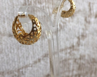 Tiny gold hoop earrings small gold hoops dainty gold hoops Gold Filled Hoop Earring second hole huggies Small gold hoops small wide hoops