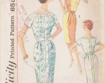 Simplicity 3970 / Vintage 60s Sewing Pattern / Dress / Size 14 Bust 34