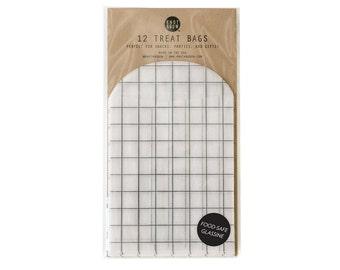 Windowpane Treats Bags / 12 Glassine Bags