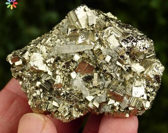 Gorgeous  Bright Pyrite with Quartz,  Crystal, Mineral, Natural Crystal, Natural Mineral, Mineral Stone