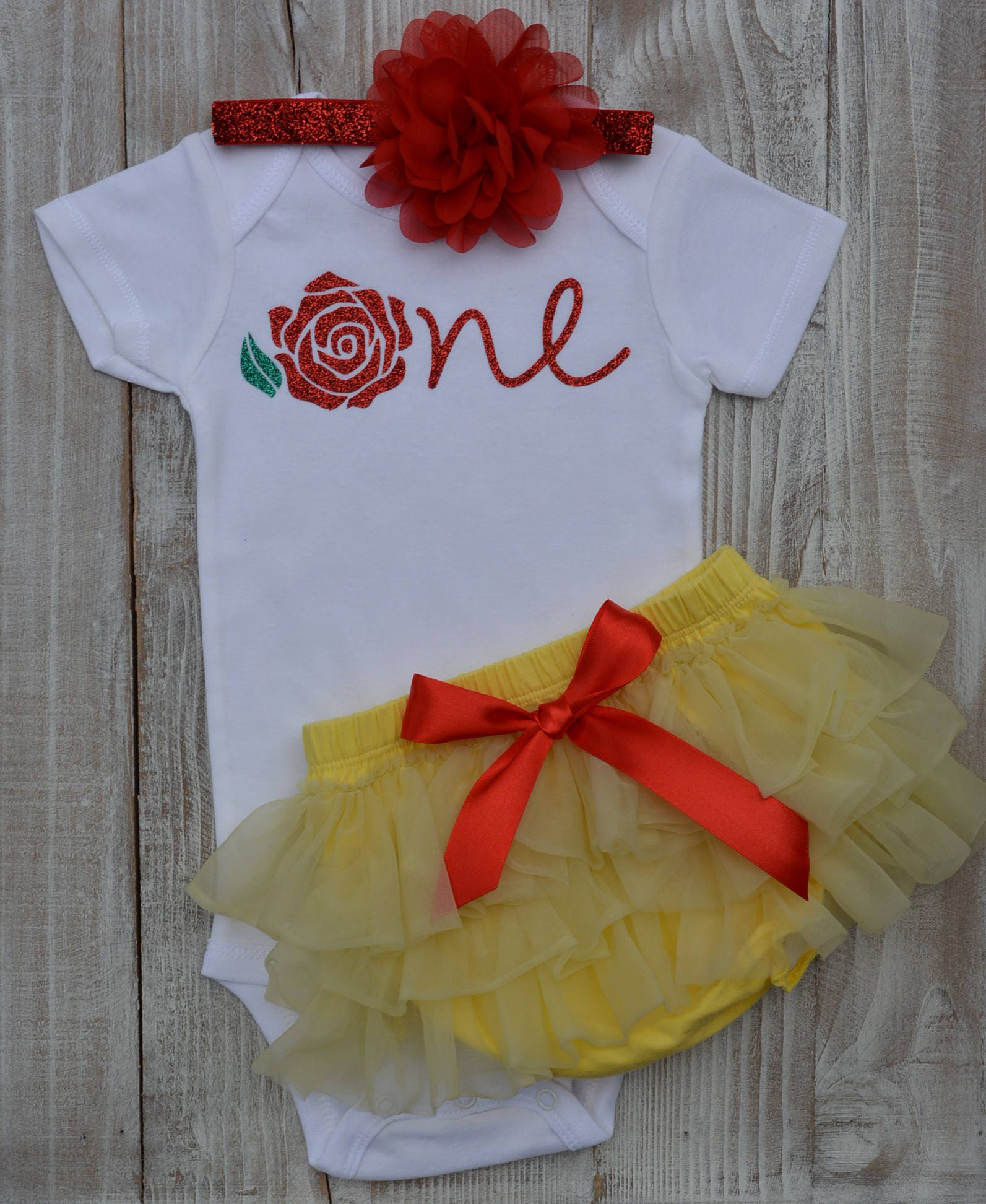 Beauty and the beast Baby Girl Outfit Baby Girl Tutu Light