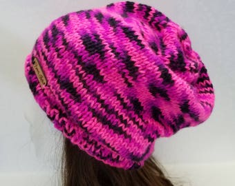 Bruni's Hot Pink Slouchy Beanie