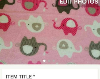 Custom Pink Elephants Fitted Crib Sheet and Pillowcase