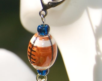 Seattle Seahawk Football Inspired Earrings
