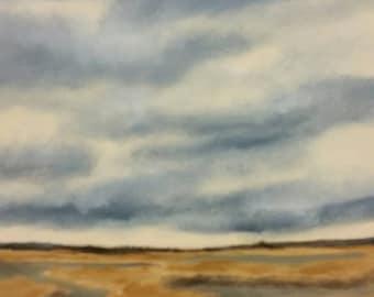 Flooded Field In Stuttgart - Work In Progress - Oil Painting