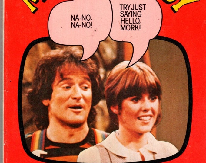 1979 Mork & Mindy A Video Novel Paperback TV Photo Cover Robin Williams