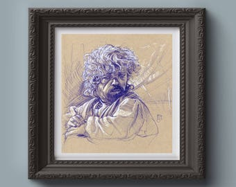 GAME of THRONES Original Drawing - Tyrion Lannister - 8.5X9.5, Fantasy, Original Art, Hand of the Queen, Peter Dinklage, Imp, Dwarf, Gift