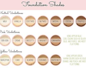 Custom Mixed Mineral Wonder Powder Foundation - Vegan Customized All Natural Mineral Makeup