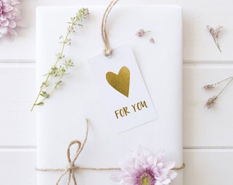 Gold Foil For You Gift Tags