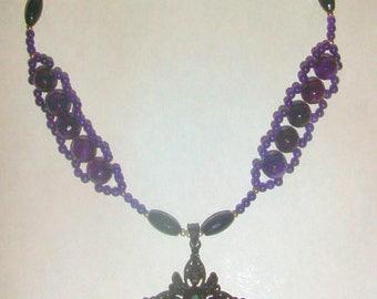 Gothic Vampire Cross Necklace