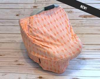 Knit car seat wrap  /  Stretchy car seat cover  /  Nursing scarf  /  Knit baby seat cover  /  Stretchy 3 in 1 wrap