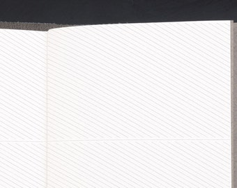 Traveller's Notebook LEFT Handed Address Inserts - STANDARD size Midori style printable. Diagonally ruled address or to-do list notepaper.