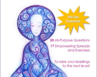 Tarot 20/17 e-Book: 20 Questions-17 Spreads & Exercises - PDF File Digital Download