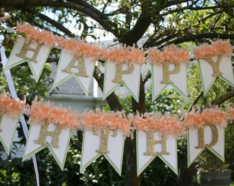 Happy Birthday Banner - Birthday Decoration - Birthday Garland - Birthday Photo Prop