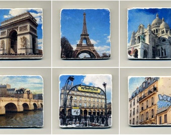 Paris Collection- 6 original coasters