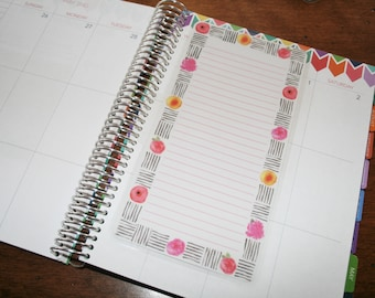 Dashboard (Size B), Coil Clip In, Laminated, Double Sided  / Erin Condren Life Planner, Limelife, Plum Paper (B21)