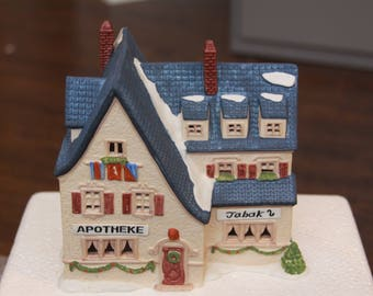 Department 56 Alpine Village Apotek and Tabak - Vintage Perfect Condition Retired Piece