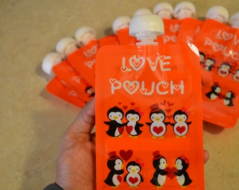 5, 10, and 20 Pack Reusable Food Pouch. Refillable, Resealable and Baby Friendly!