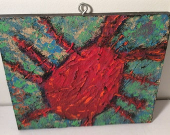 RonGo Textured Art -Painting -  Crab