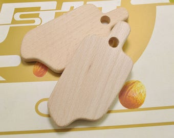 5pcs ice cream Unfinished Wooden Teether Pendant,Baby Teethings Toy Wooden Teether Jewelry Toddler Teething Toy Baby gift Handmade 111x51mm