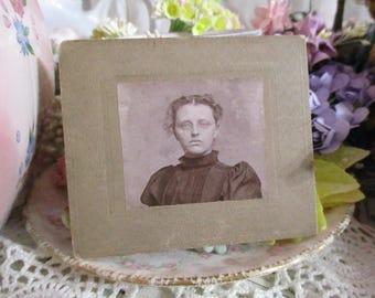 Antique Vintage Photograph Cabinet Card-Miss Mae-1920's