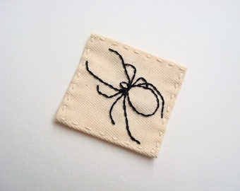 Spider Hand Embroidered Patch Sew On Insects