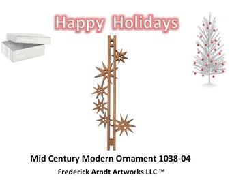 1038-4 Mid Century Modern Christmas Ornament