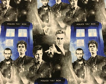 Doctor Who 100% craft cotton fabric