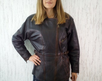 Vintage Motorcycle Woodlands Leather Jacket