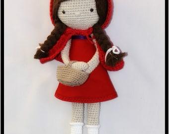 Red Riding Hood, Amigurumi Red Riding Hood, Amigurumi Red Riding Hood, doll Red Riding Hood, Red Riding Hood doll,