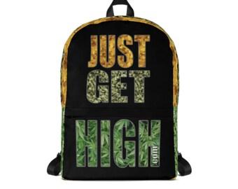 JUST GET HIGH Backpack with stash pocket
