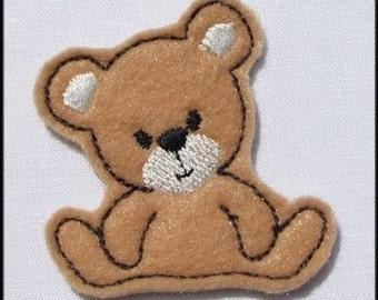INSTANT DOWNLOAD Felt Bear Applique embroidery designs