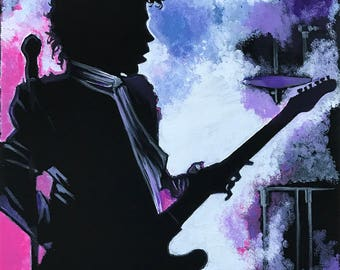 Prince Let's Go Crazy from the movie Purple Rain ***print*** by Michigan artist Dennis A!