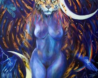 Ixchel Goddess A4 Print
