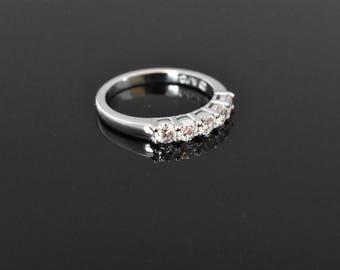 14K White Gold 5 Stone Diamond Ring