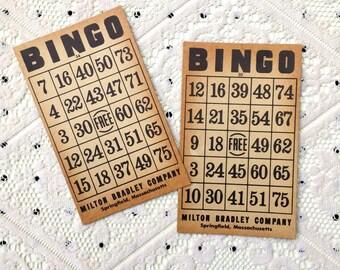 SALE: Vintage Milton Bradley BINGO Cards (Set of 2)