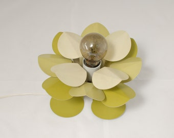 small metal flower lamp