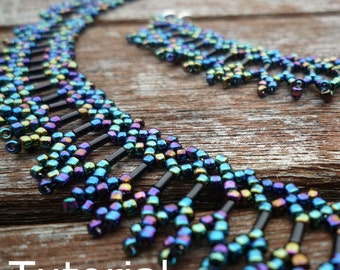 Simple Necklace Beadwork Pattern/Tutorial - Instant Download