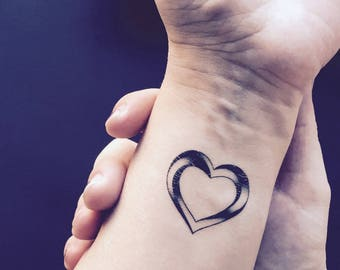 Impossible Heart Temporary Tattoo