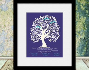 Parent's Gift, Hodding Crter Jr Quote, Parent's Thank You Gift, Roots and Wings Quote, Parent's Anniversary Gift, Christmas Gift for Parents