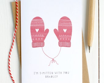 Smitten Personalised Christmas Card for Partner - Christmas Card for Husband - Christmas Card for Boyfriend - Christmas Card for Girlfriend