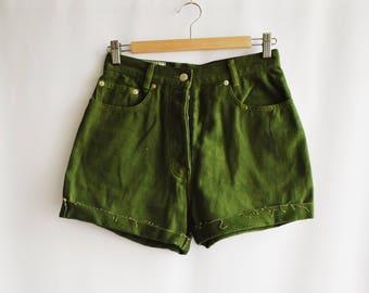 Green Vintage shorts.