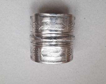 Bedouin silver cuff bracelet, Egyptian bracelet, ethnic jewellery, tribal silver, hallmarked