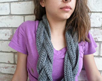 Three Strand Braided Infinity Scarf