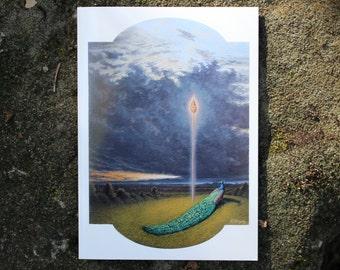 FREE SHIPPING Mahajyoti Shakti - Fine Art Greeting Card (blank inside)