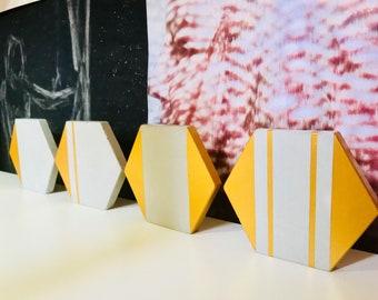 Chic Hexagon Concrete Coasters