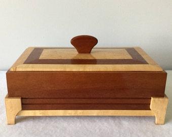 Mahogany and Birdseye Maple Box