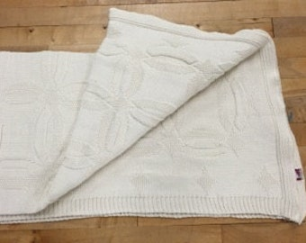 Wedding Ring 100% Natural Cotton Throw Blanket