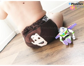 Toy Story Woody One Size Pocket Diaper, Cloth Diaper (Photoshoot or Daily Use)